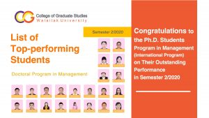 Top-performing students 2-2020 PhD in management